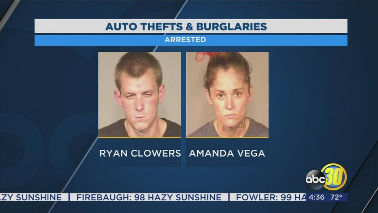 Two crime spree suspects arrested in Fresno