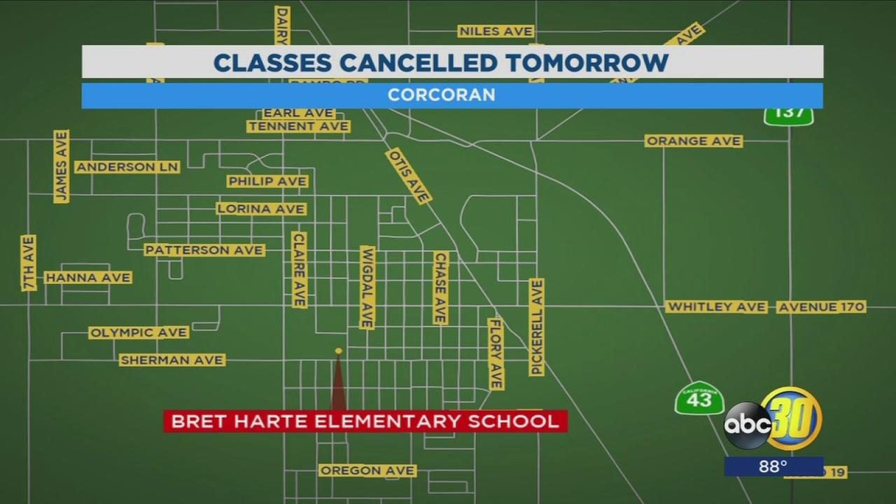 Elementary school in Corcoran cancels classes tomorrow due to electrical problem
