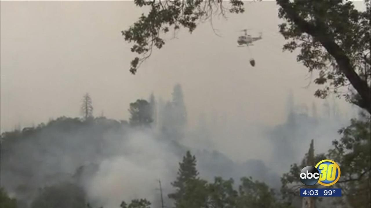 Mission Fire threatens hundreds of homes near North Fork