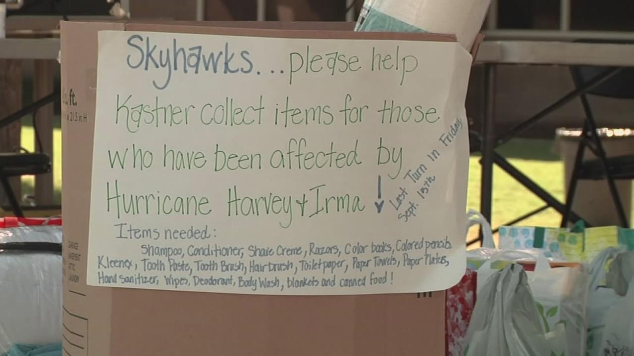 Students donate items for those impacted by the recent hurricanes
