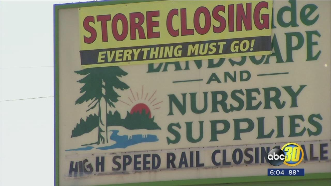 Northwest Fresno nursery shuts down to make room for high-speed rail