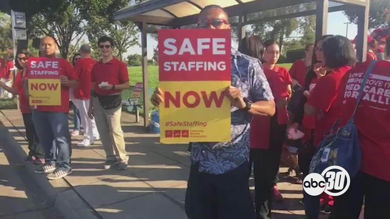 Nurses at Kaiser Permanente rally for patient care