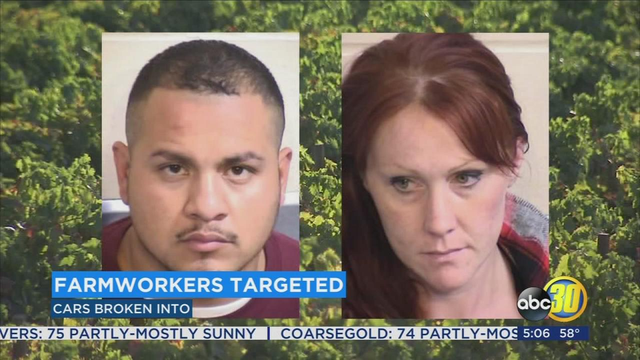 Suspects arrested accused of breaking into farmworkers cars