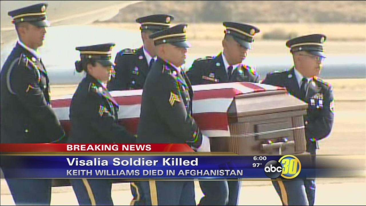 Plane carrying fallen soldiers body arrives in Visalia