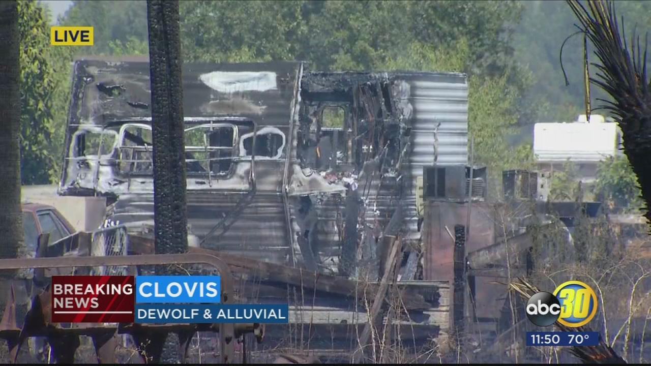 Firefighters injured battling grass fire near Clovis