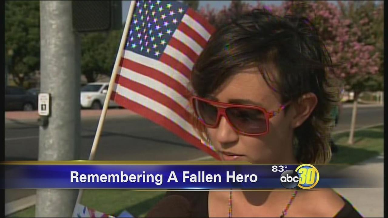 Visalia comes out to honor a fallen soldier