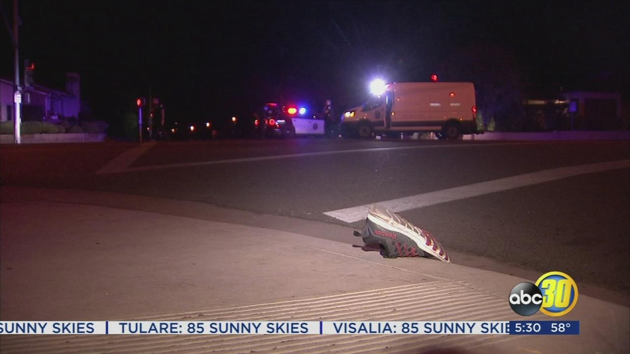 Police search for hit and run driver after a man is hit in Central Fresno