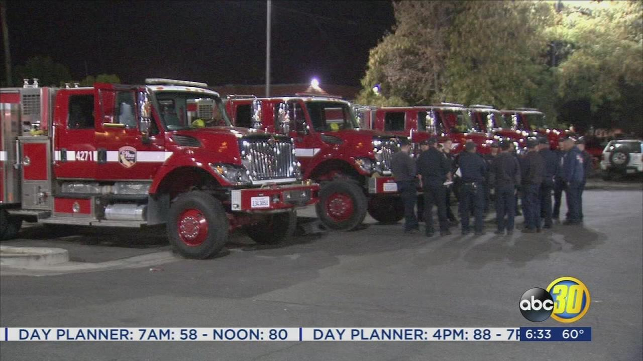 SoCal fire firefighters gain support from Valley strike teams as they battle the Canyon Fire