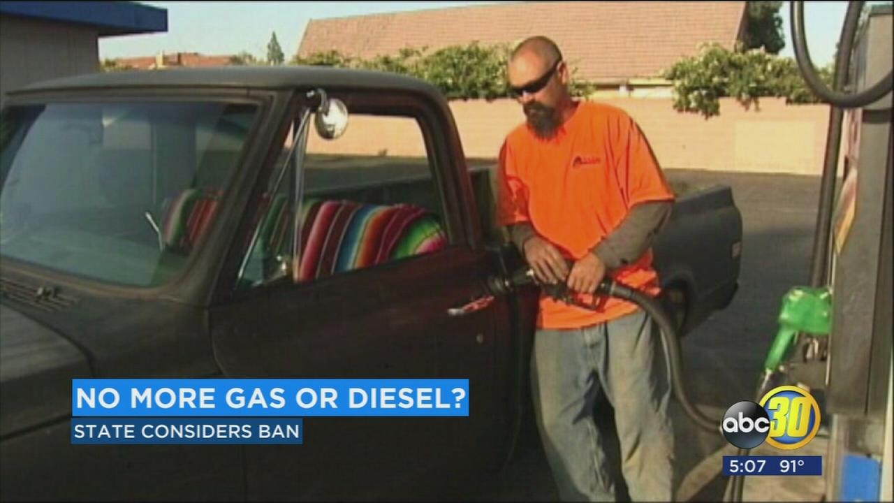 Gas powered cars could be banned in California by the year 2040.