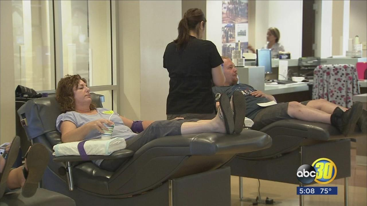 Huge response at blood centers in the Valley
