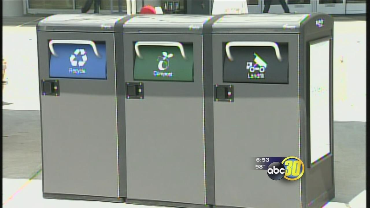 UC Merced installs solar-powered waste and recycling systems