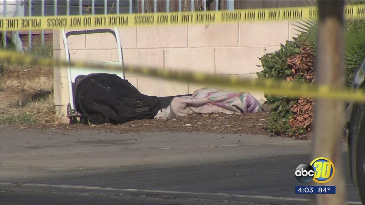 Police investigating suspicious death of homeless man after body was discovered in parking of strip mall