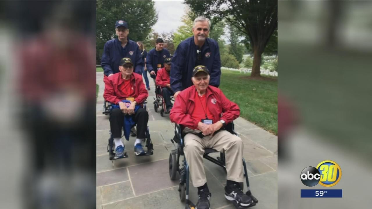 Dozens of Valley veterans enjoy a patriotic return from the trip of a lifetime