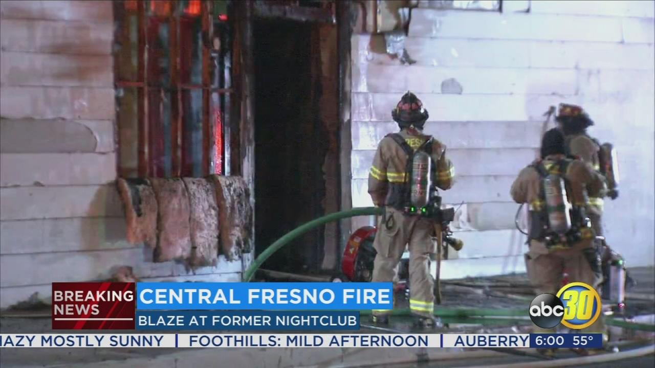 Fire officials investigating fire that broke out at abandon building in Central Fresno
