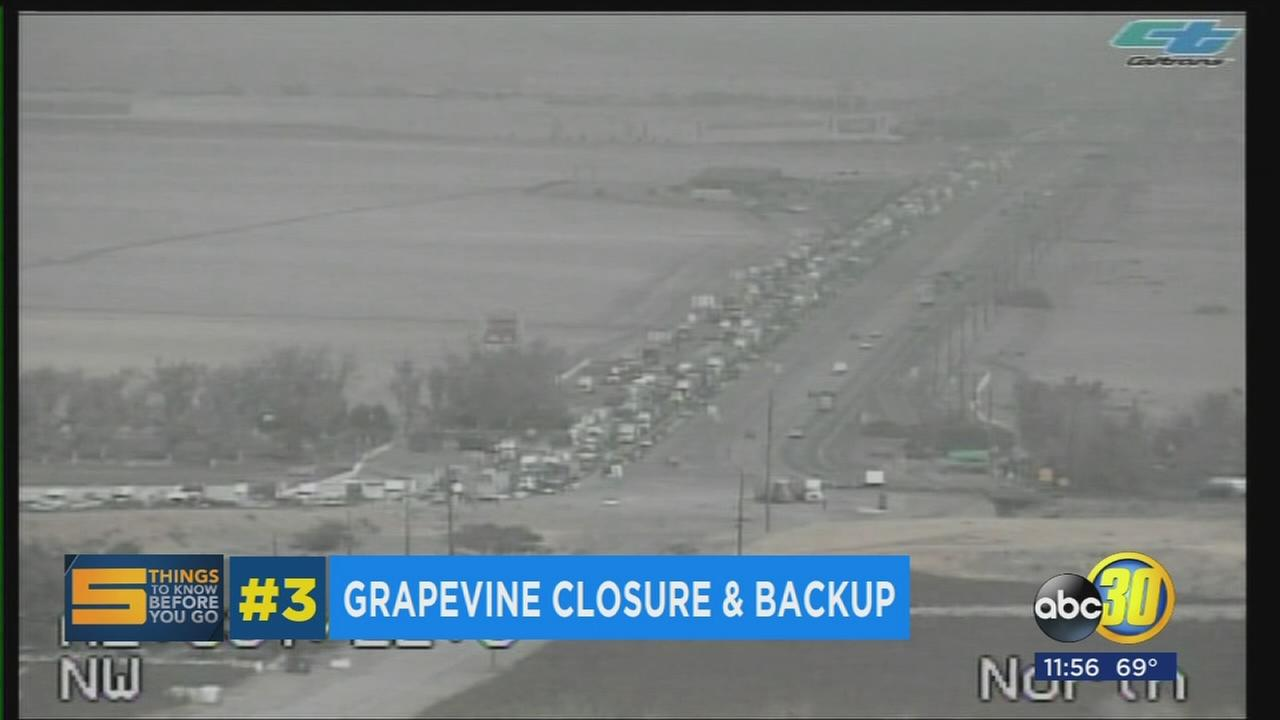 Semi-truck accident causes major traffic backup on the Grapevine