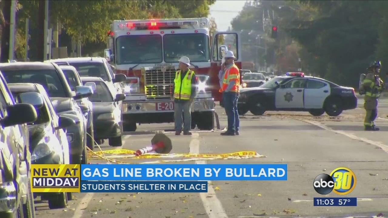 Shelter in place lifted after gas leak near Bullard High capped