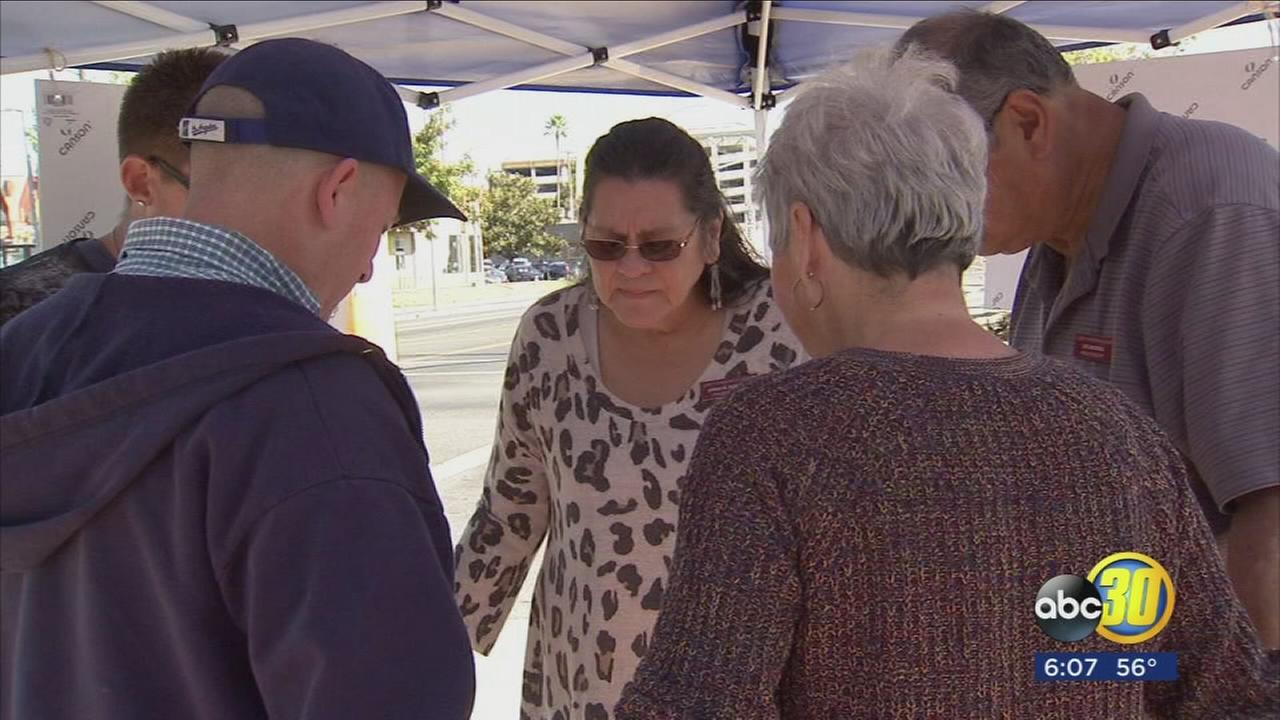 Several tents were set up around Fresno today inviting residents to come together to pray.