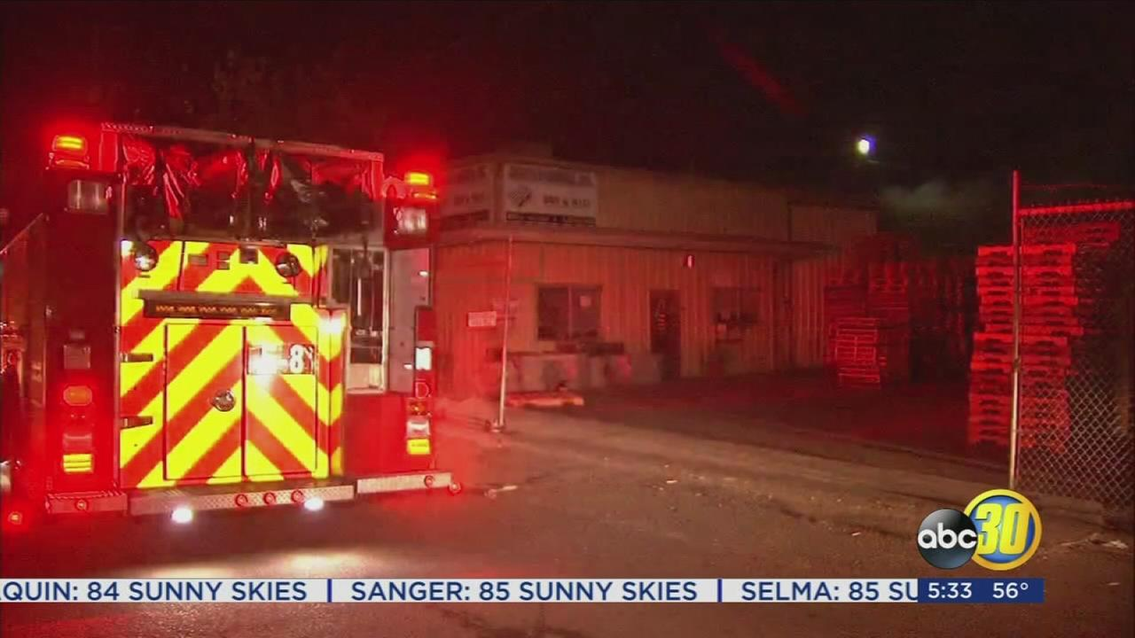 Fire crews battled commercial fire in Malaga