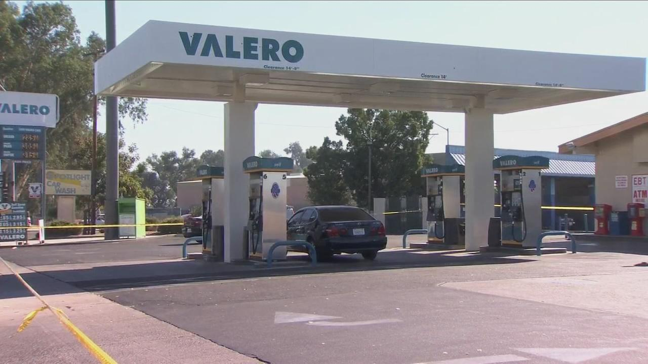 Police search for suspect after 1 person shot at a gas station in West Central Fresno