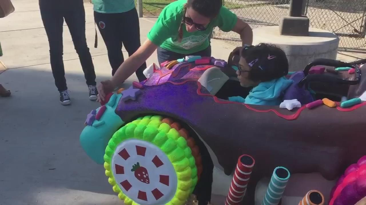 SUGAR RUSH: 8-year-old in Visalia with cerebral palsy receives Wreck-it Ralph inspired wheelchair