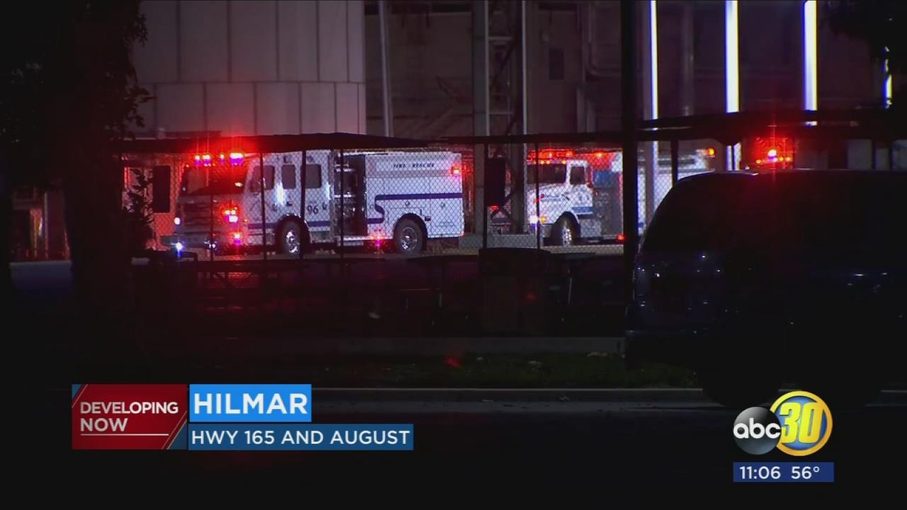 Fire crews battle dryer fire at Hilmar Cheese Company