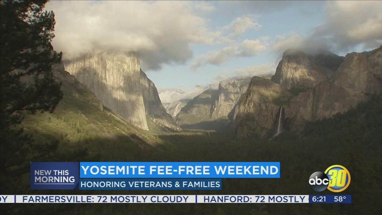 Yosemite National Park offering fee-free weekend for soldiers and their families
