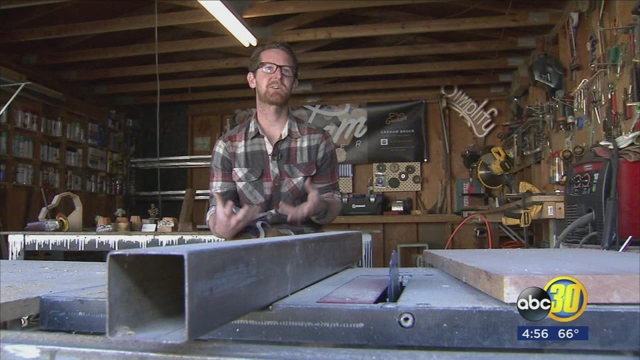 Fresno man puts his heart into the furniture he creates with his hands