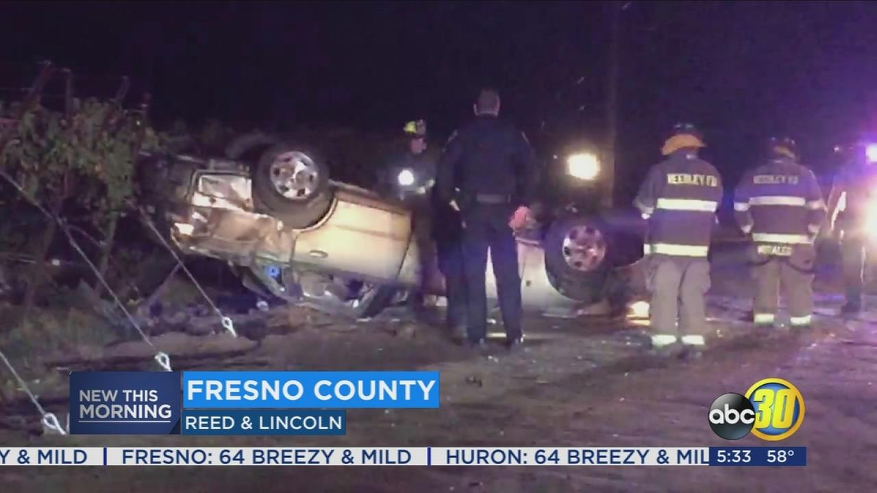 Woman injured in rollover crash near Reedley