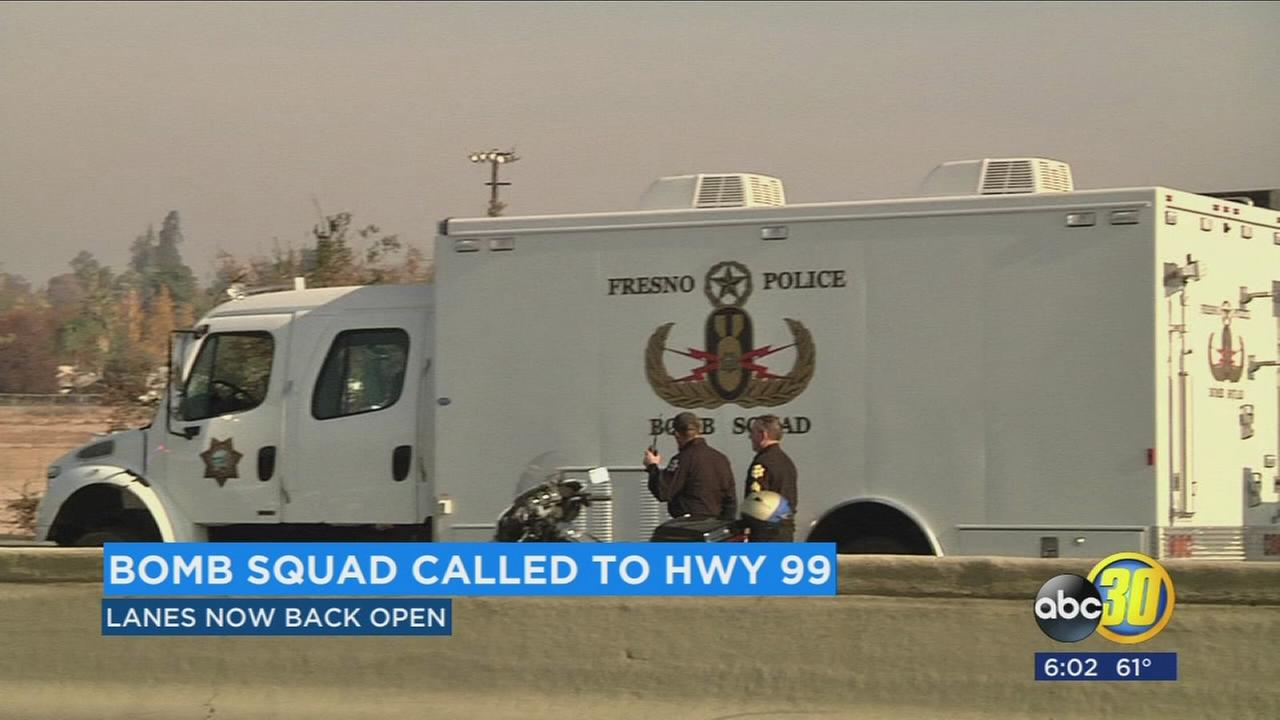 Bomb squad called to HWY 99