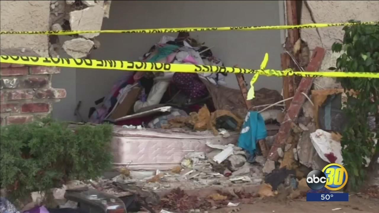 Man dies after driver of SUV crashes into his Madera apartment