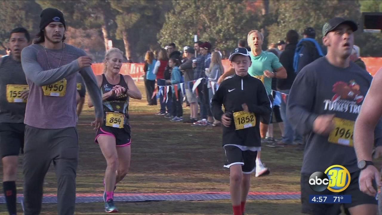 Hundreds of runners burned their Thanksgiving feast calories during the Turkey Trot