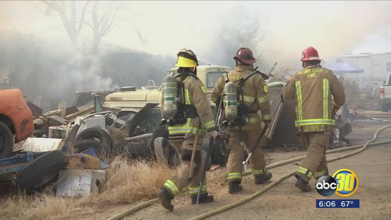Sanger home destroyed after turkey caught fire