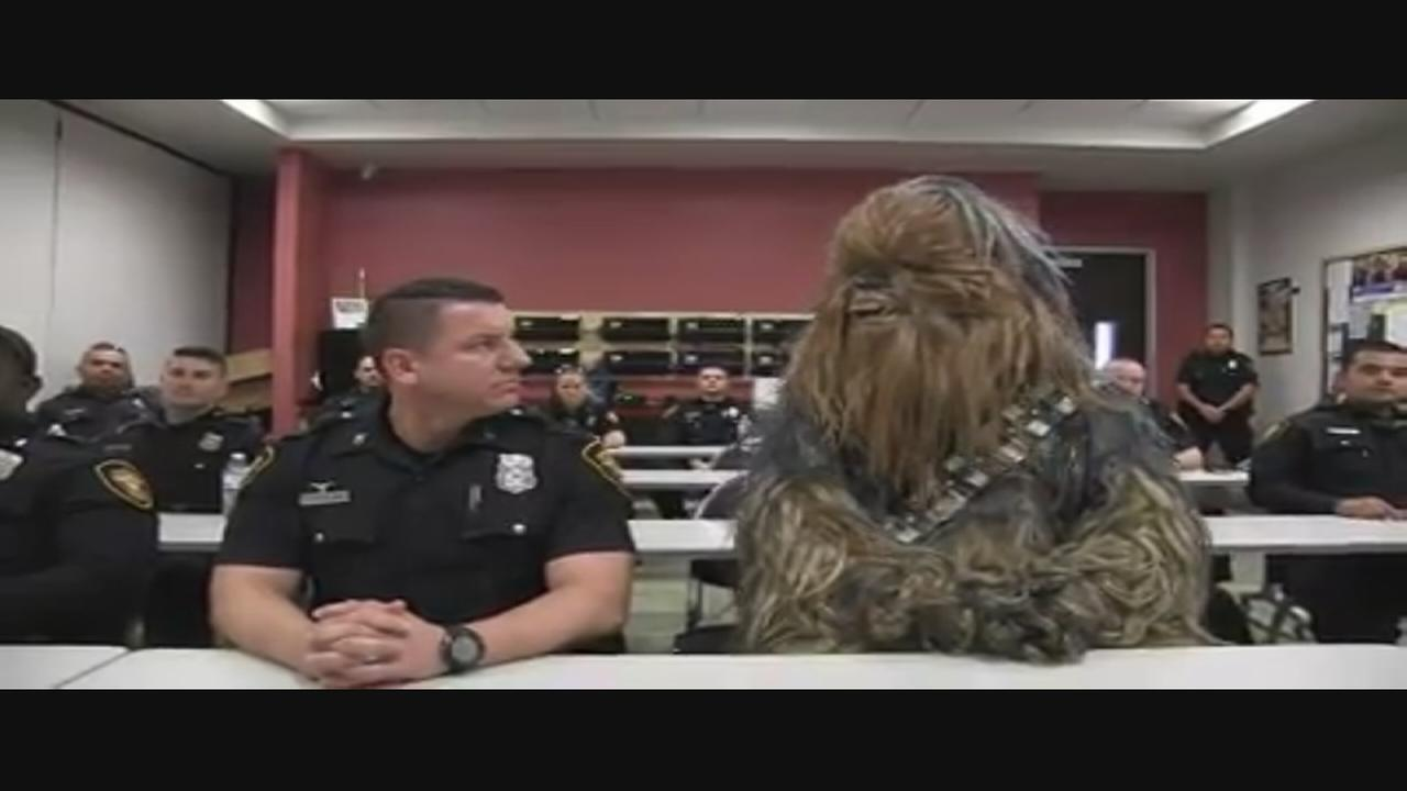Police Department recruitment video adds to their force with their new Wookie officer