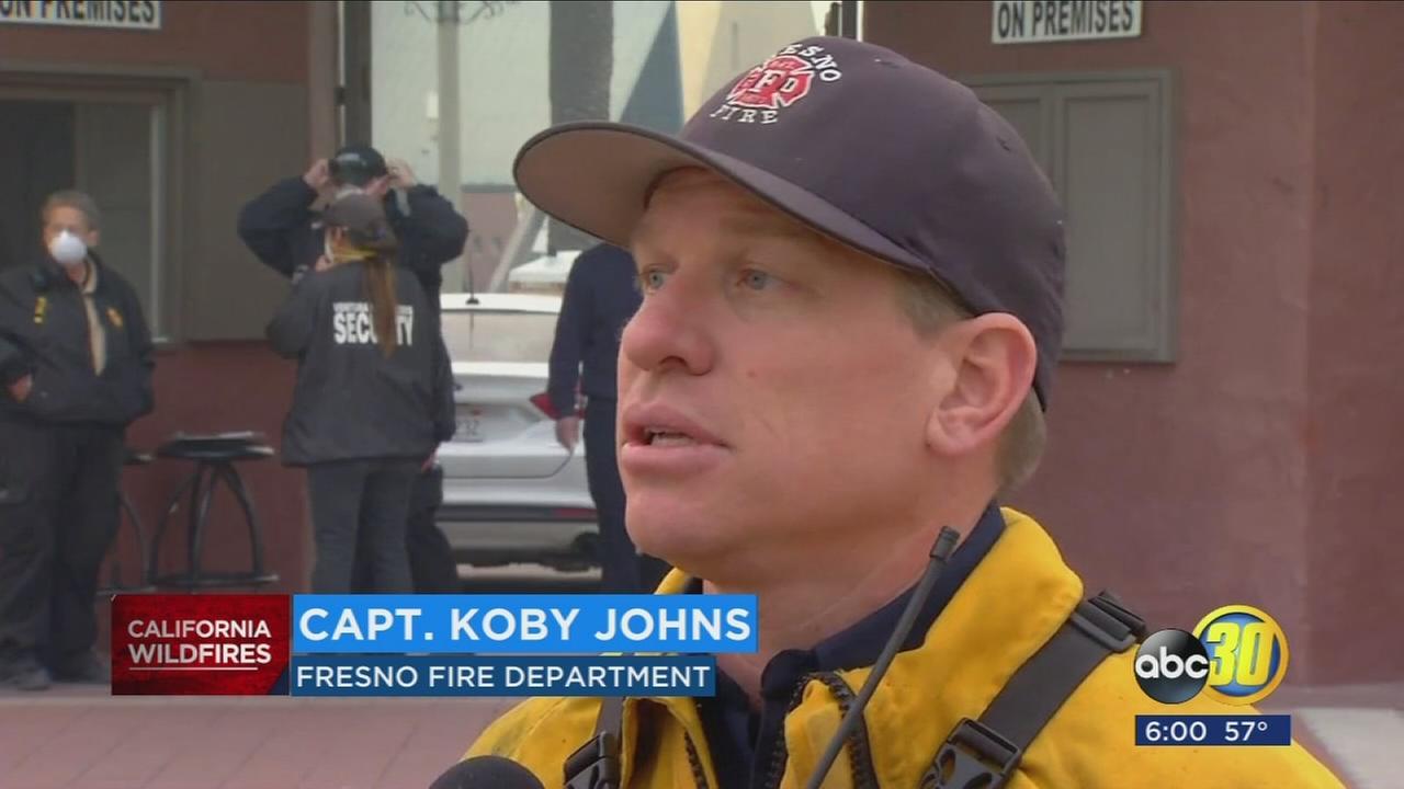 Central Valley fire crews still battling fast-moving wildfire in Ventura County