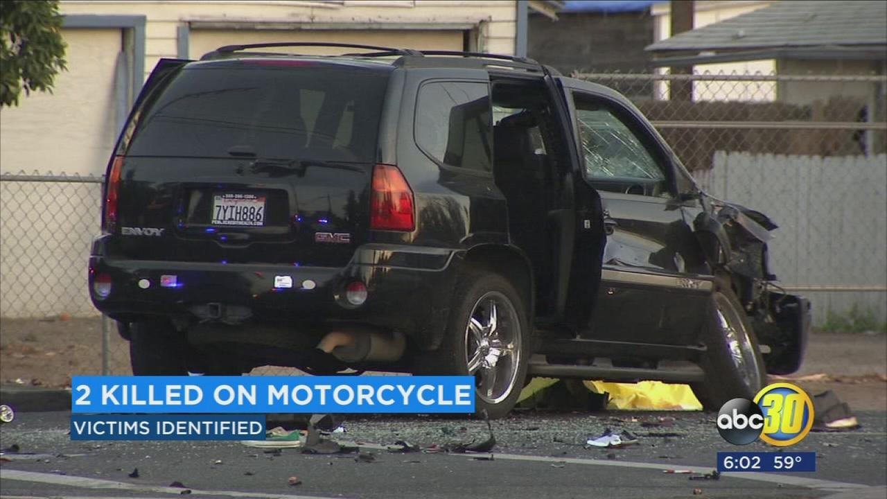 Two people killed in Southeast Fresno motorcycle crash identified