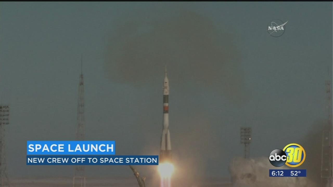 Astronauts rocket toward International Space Station