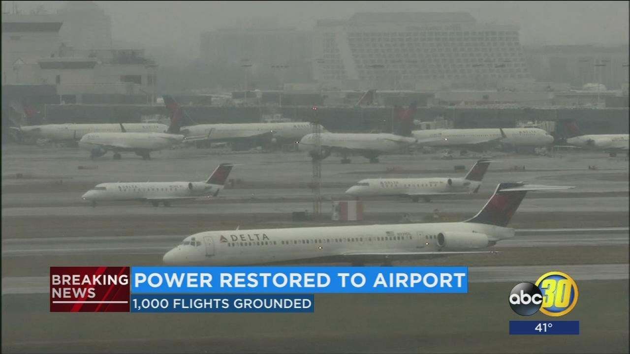 Power restored to airport
