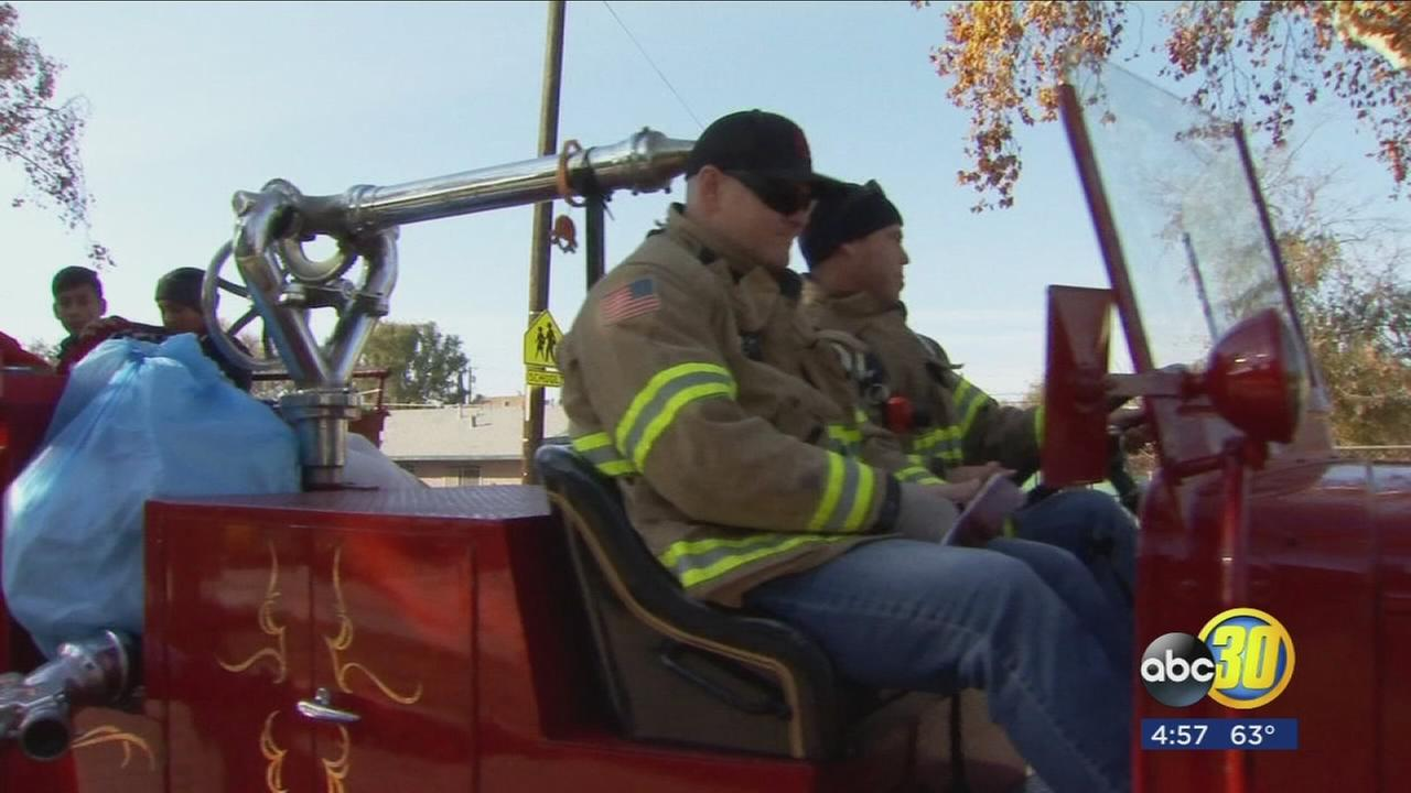 Fresno Firefighter Gift Give Away helps families in need