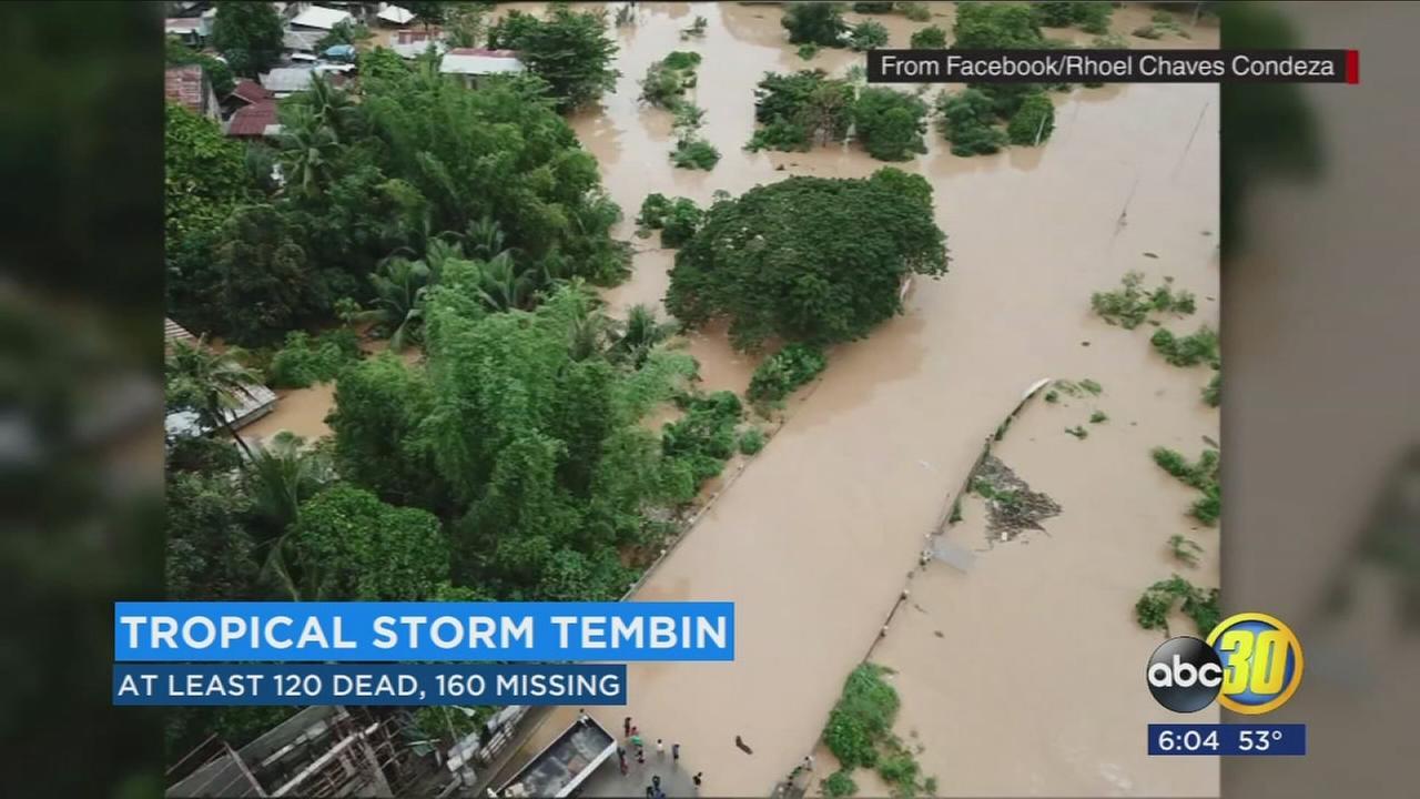 Tropical Storm Tembin batters Phillipines