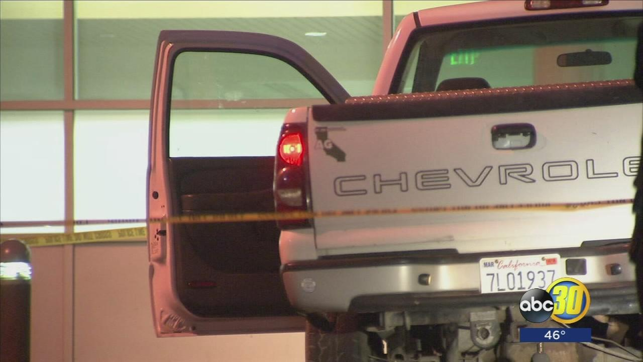 Three men hospitalized after a shooting highway stoplight