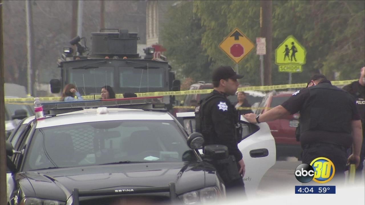 Suspect arrested after standoff in Central Fresno