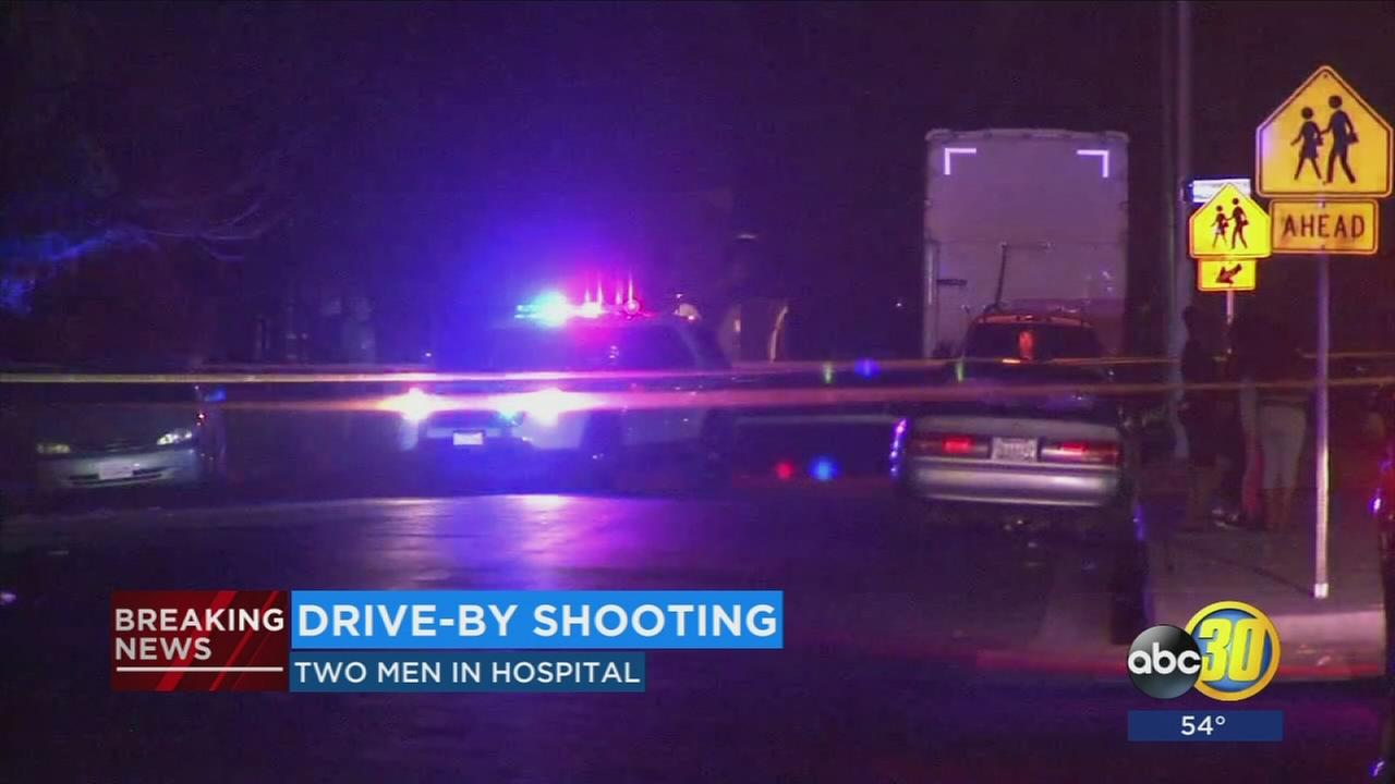 2 people shot in drive-by shooting in East Central Fresno
