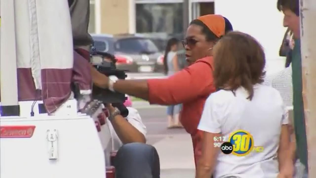 Oprahs Fresno visit surprised shoppers