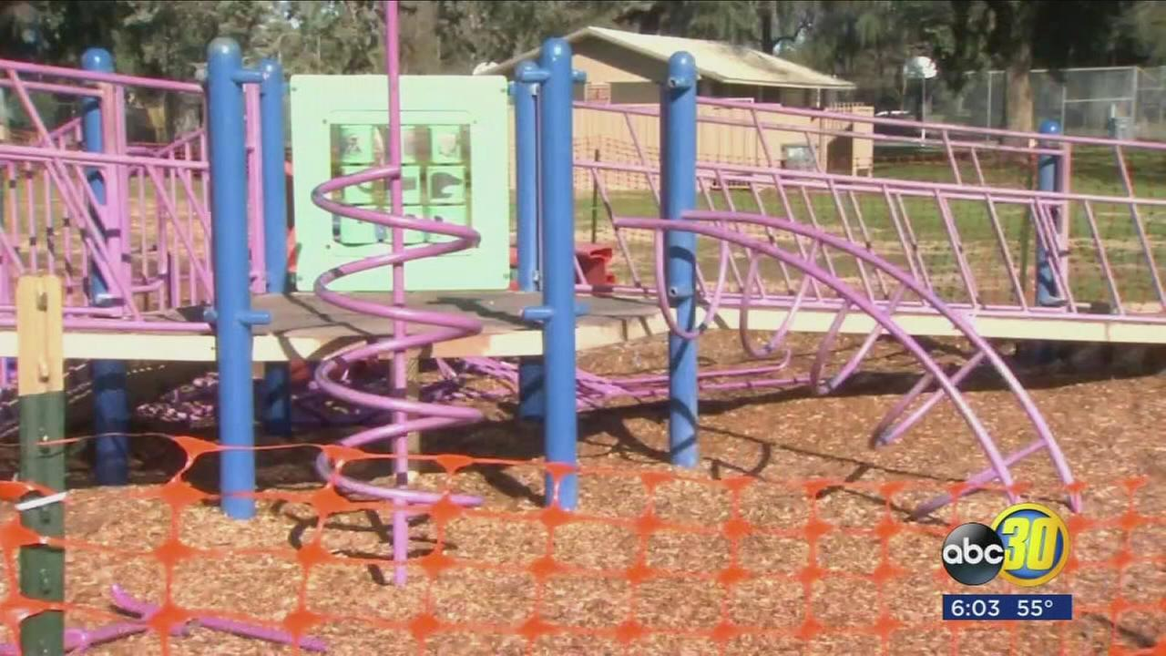 Merced playground closed after safety concerns