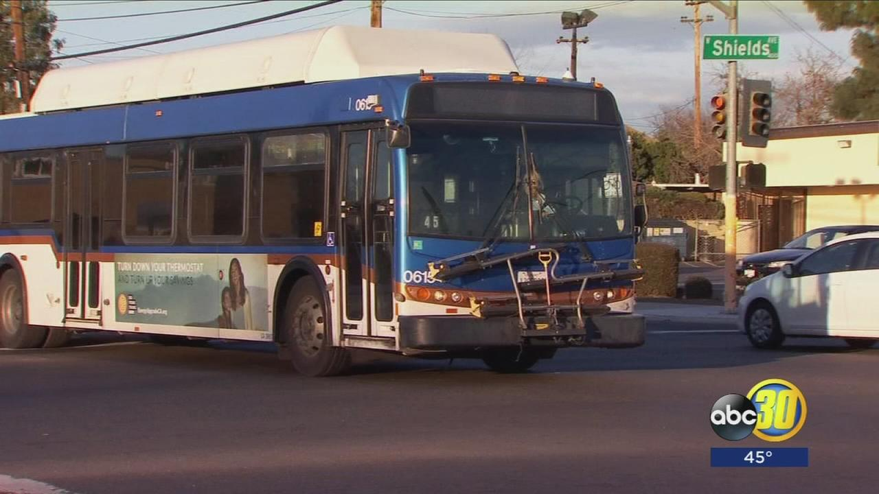 Pedestrian hit and killed by a Fresno FAX bus
