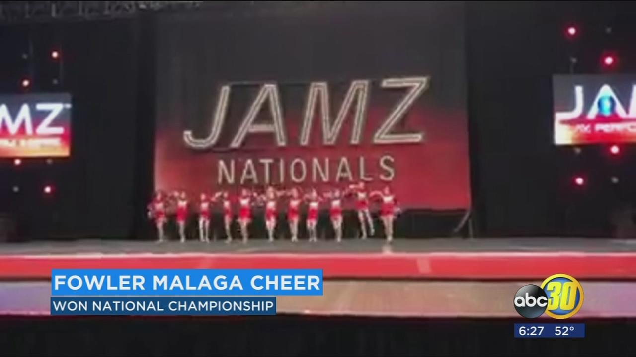 Pee-Wee cheer team takes 1st place JAMZ National Championship