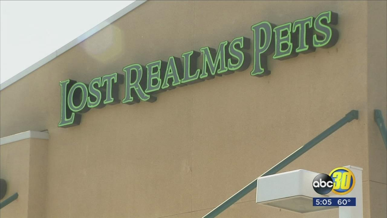 Lost Realms Pet Store in Northeast Fresno closed