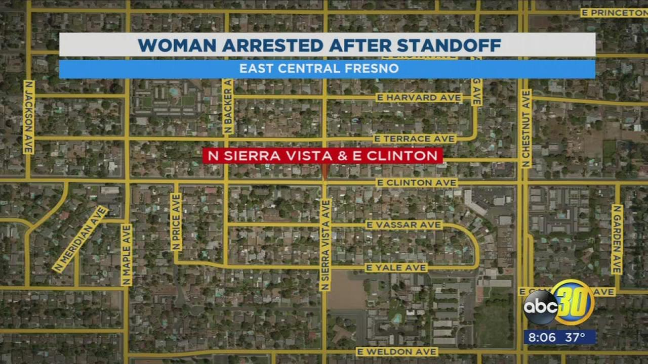 Woman arrested after standoff in East Central Fresno