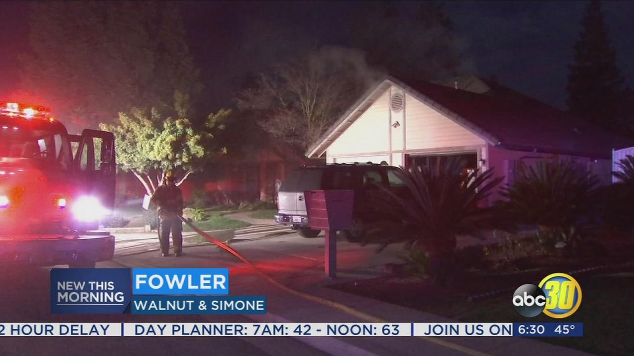 Crews quickly contain chimney fire at Fowler home