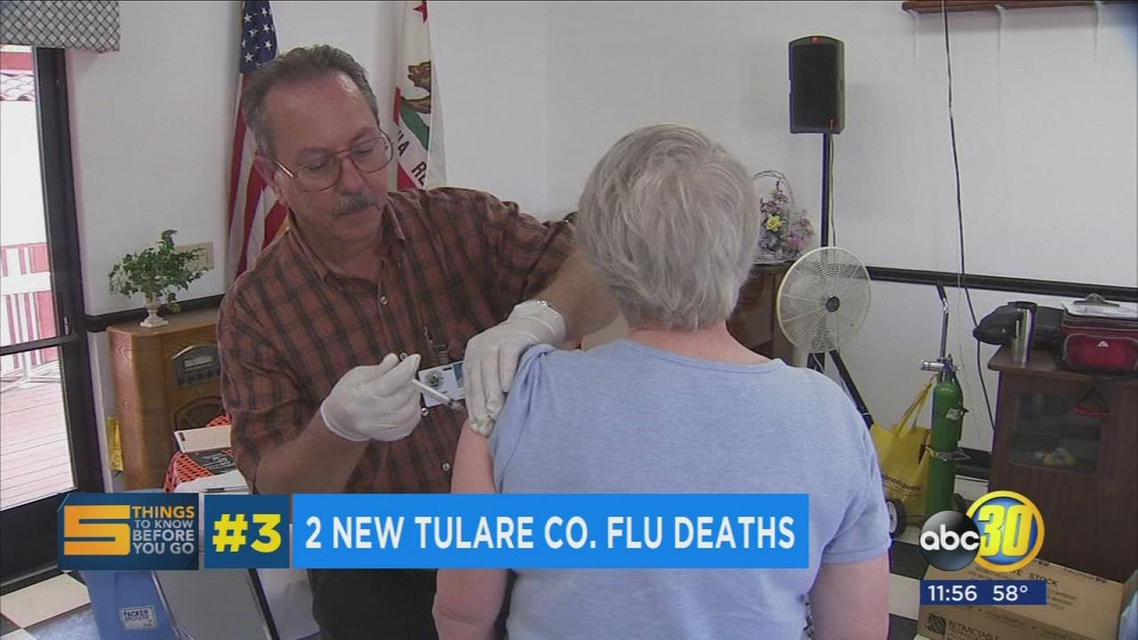 2 more women die from flu related infections, Tulare County health officials say